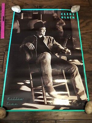 "CLINT BLACK KILLIN/' TIME POSTER  19/"" X 26/"" COUNTRY VINTAGE"