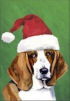 Garden Flag Santa Bassett Hound Dog Gift 12 X 18 Free Shipping To Us