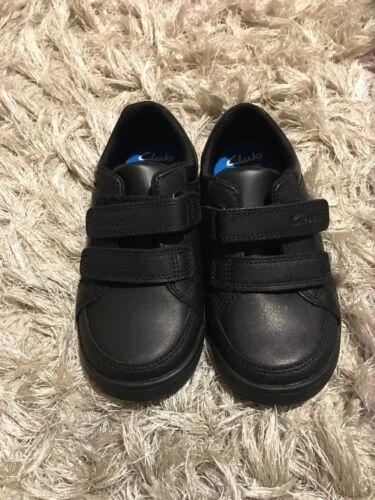 Clarks Boys School Shoes Leather Black Uk 10F//eur28