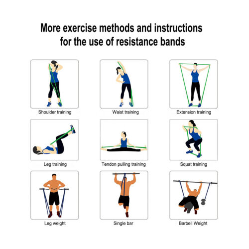 Resistance Bands Loop Heavy Duty Exercise Sport Fitness Gym Yoga Pull UP