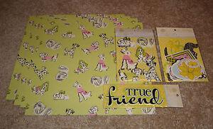 Anna Griffin Scrapbook Paper/Dimensional Sticker Kit ~ Fifi & Fido Collection