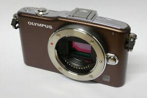 Olympus-PEN-E-PM1-Gehaeuse-Body-B-Ware-braun-EPM1
