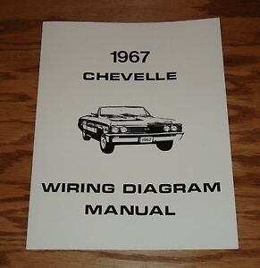 1967 Chevrolet Chevelle Wiring Diagram Manual 67 Chevy SS ...