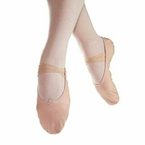 Danzcue-Adult-Split-Sole-Leather-Ballet-Slipper