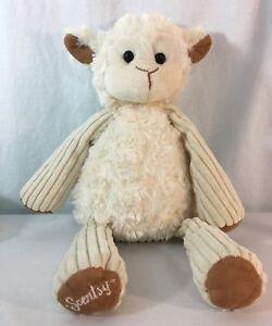 Scentsy-Buddy-Lenny-the-Lamb-Plush-Stuffed-Animal-Toy-Sheep-Cream-Tan-Lovey-16-034