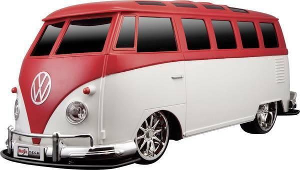 Maisto Volkswagen VW t1 furgoneta samba maqueta de coche forma remota RC descubrimos rojo
