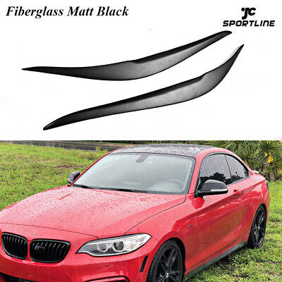 XMSM Headlight Eyebrows For BMW F87 M2 F22 F23 220I 228I M235I M For Sport For Coupe 2 Door 2014-2019 Glossy Black Headlights Eyebrow Eyelid Sticker Eyelids Trim Cover