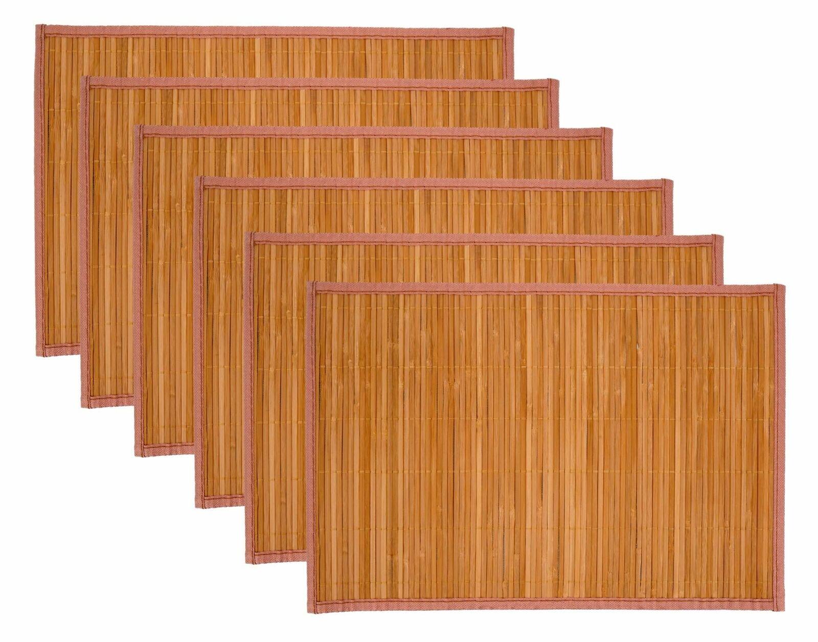 "Laser Printed Split Bamboo 12/""x18/"" Placemat Alhambra Set of 6"