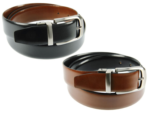 Primehide Genuine Leather 28mm Reversible Belt For Men - Black or Brown