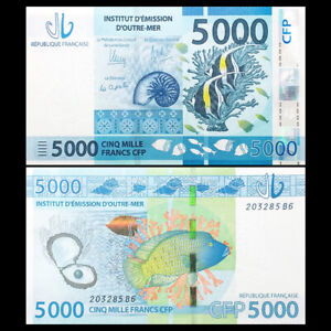 French Pacific Territories 5000 Francs, ND(2014), P-7, Banknotes, UNC