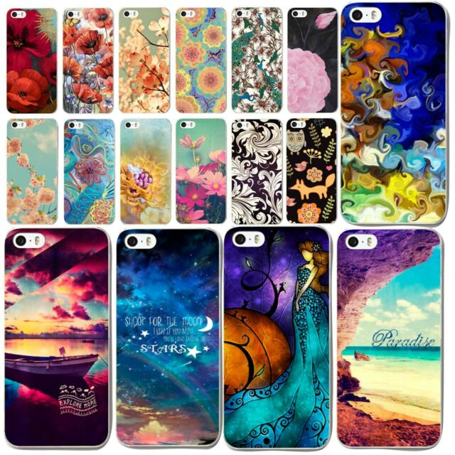 Hot Fashion Flower Starry Sky Pattern Case Cover For Apple iPhone 5 5S 5C 4 4S