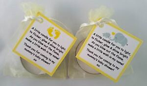 Baby Shower Candle Favours Vanilla Scented