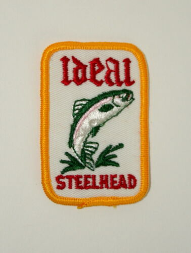 Cloth Patch NOS New Ideal Steelhead Trout Fishing Fish Farms Hatchery Lure