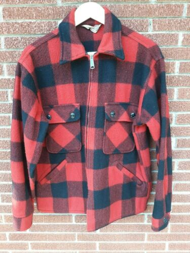 Vintage Penney's Foremost Red Buffalo Plaid Wool H