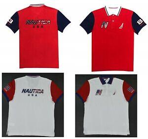 NWT-Men-039-s-Nautica-USA-Canada-Flag-Classic-Fit-Short-Sleeve-Polo-Shirt