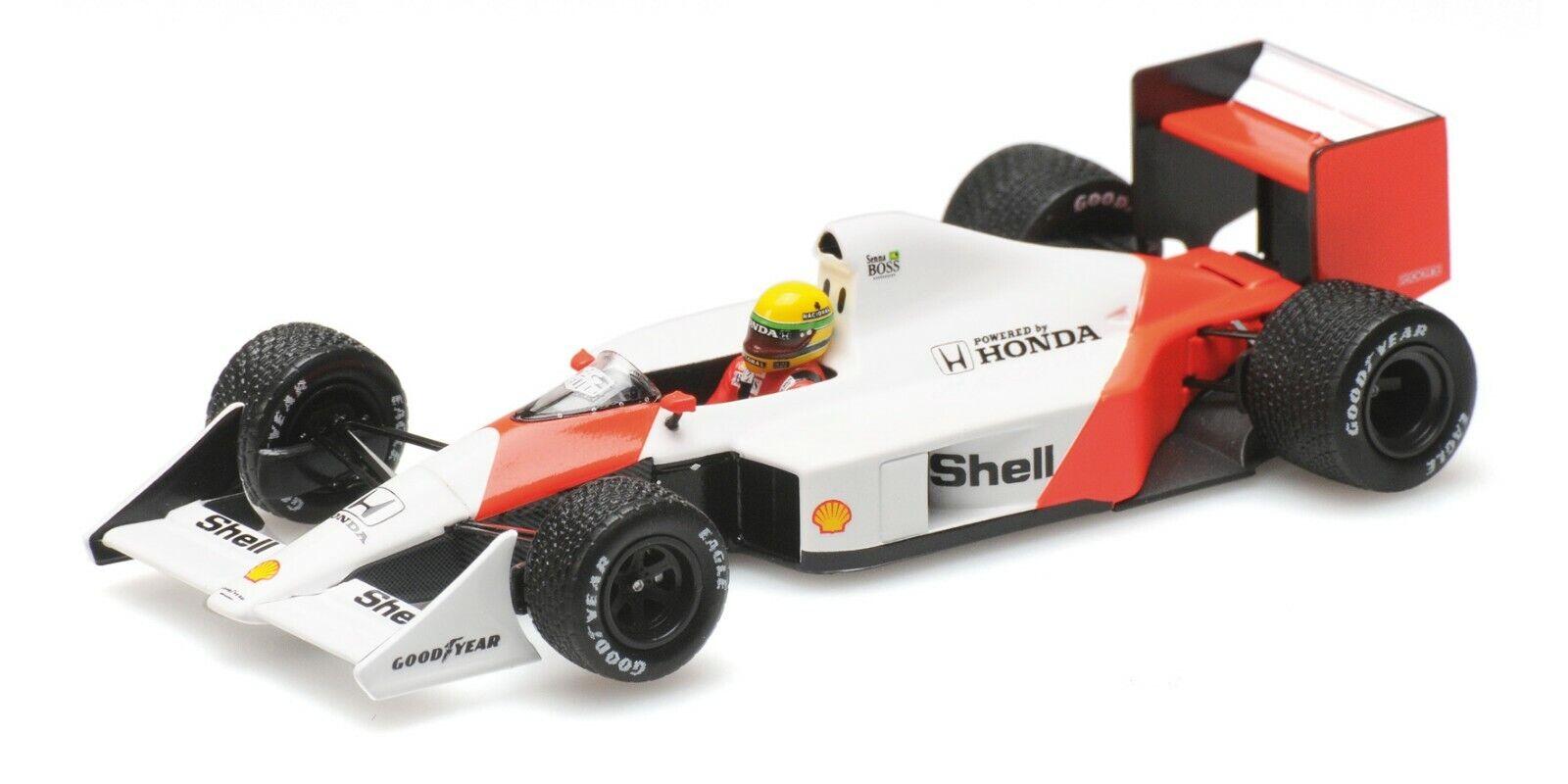 Minichamps F1 McLaren Honda MP4-4B Ayrton Senna 1 43 Test Car 1988