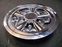 (2) 1 Pair 8 Chrome Trailer Wheel Hub Cap Rim Covers Sharp Phoenix Usa Qt8chm