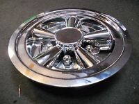 (2) 1 Pair 8 Chrome Trailer Wheel Hub Cap Rim Covers Sharp Phoenix Usa Qt8chm