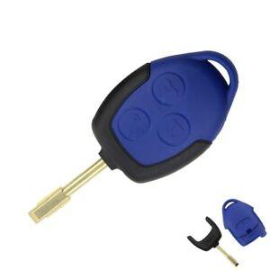 Auto Schlüssel Blau Gehäuse Rohling für FORD FOCUS FIESTA MONDEO TRANSIT FKS12A