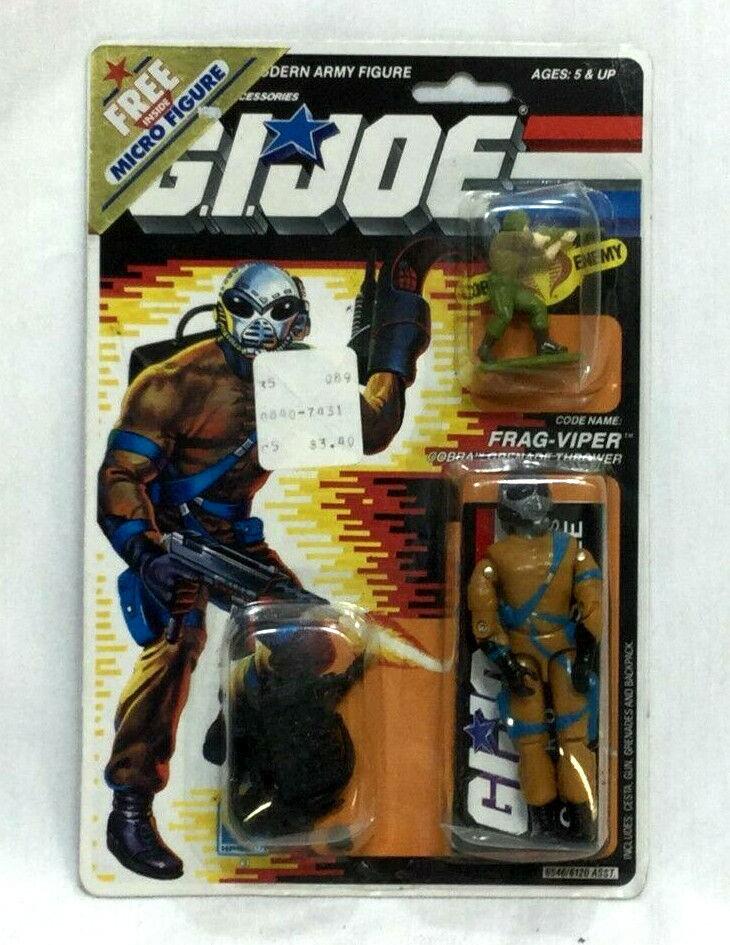 1988 Hasbro GI  Joe ARAH Cobra Frag Viper Figure MOC voitureded Sealed Micro Duke  prix bas 40%