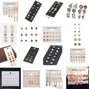 12Pair-Elegant-Women-Earrings-Set-Rhinestone-Crystal-Pearl-Ear-Stud-Jewelry-Gift