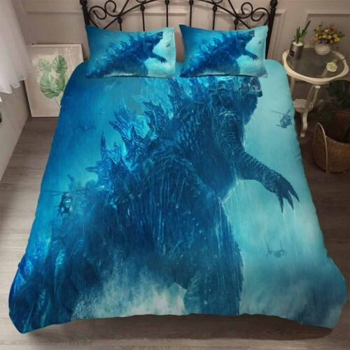 Godzilla Duvet Cover Comforter Quilt Cover Bedding Set 3PCS Pillowcase Kids Gift