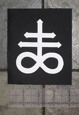 Leviathan Cross Punk Patch Satanic Baphomet Pentagram Gothic Satan Metal Occult