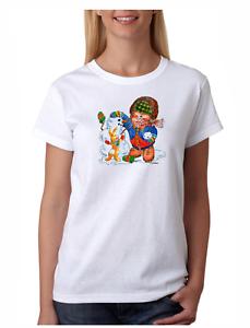 cbc255f3a46 USA Made Bayside T-shirt Christmas Snowman Winter Teddy Bear Ugly ...