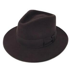 Image is loading Cotswold-Country-Hats-100-Wool-Felt-Crushable-Indiana- de1ae22abbdb