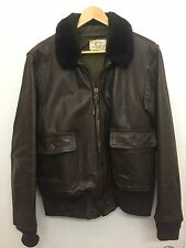 Vintage USN US Navy Leather G-1 Bomber / Flight Jacket 44 1976 Imperial Leather