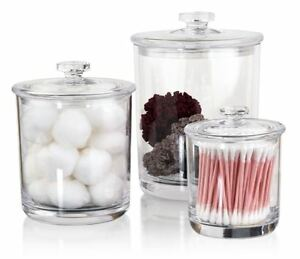 Merveilleux Image Is Loading Large Small Clear Plastic Acrylic Bathroom Apothecary Jars