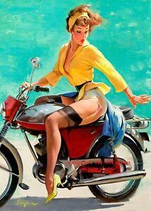 Motorcycle riders wearing pantyhose