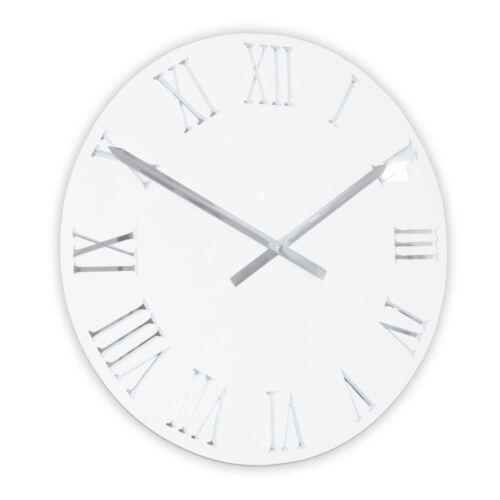 noir ou blanc 45,5 cm ROCO VERRE Miroir Acrylique 3D Horloge Murale Romaine en rouge