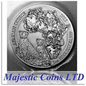 2013-Rwanda-Cheetah-50-Francs-1-Oz-Coin-999-Silver-Map-of-Africa-Mint-Blister