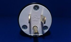 Replacement 15 Amp 125 Volt Straight Male 3 Wire Power Cord Plug NEMA 5-15P