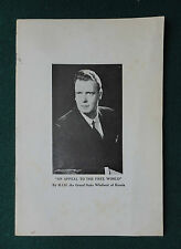 Rare Pamphlet by Grand Duke Vladimir Romanov of Russia 1952 An Appeal for Help