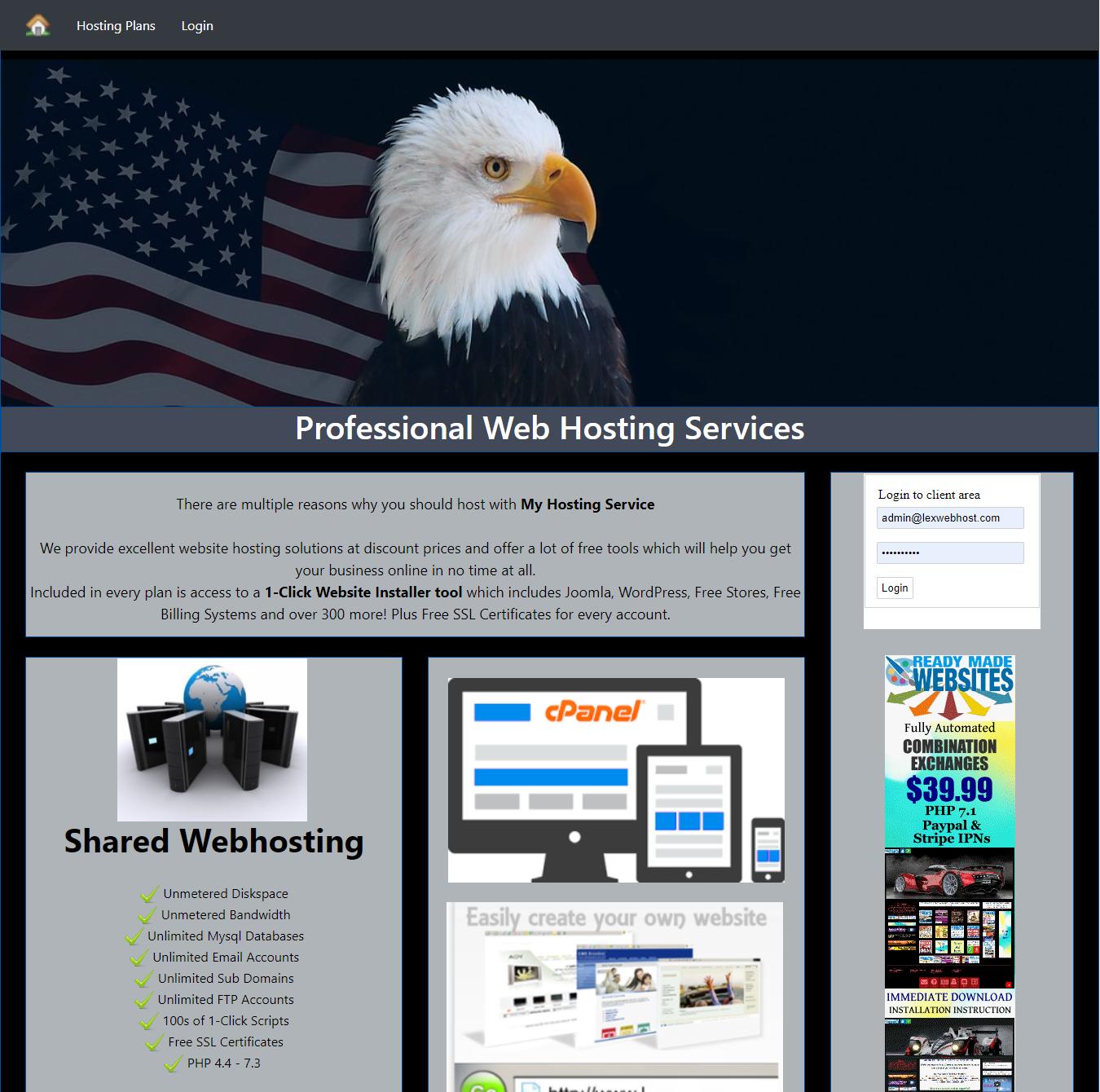 Buy a Turnkey Premium Reseller Hosting Billing Website that Makes Money Free SSL 1