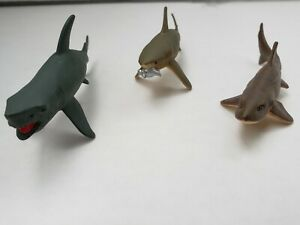 K-amp-M-Great-White-Tiger-Shark-Leopard-Shark-Figure-Lot-of-3