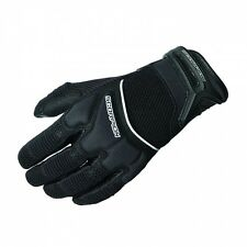 Scorpion EXO Cool Hand II Street Gloves with leather palm Black Men's Size SMALL