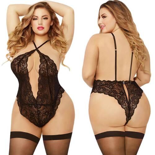 Details about  /Ladies Lingerie Slim Stocking Crotchless Nightwear Babydoll Sleepwear Plus Size