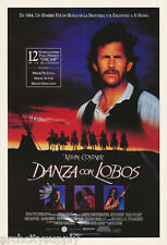 POSTER:MOVIE REPRO: DANZA con LOBOS - DANCES WITH WOLVES -  #6297  RW24 H