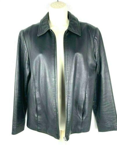 Coach Vintage 90s Black Leather Zip Zipper Moto Ja