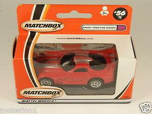 MATCHBOX-56-DODGE-VIPER-GTSR-CONCEPT-93944-MATTEL-WHEELS-2000-MIB-OF3-100
