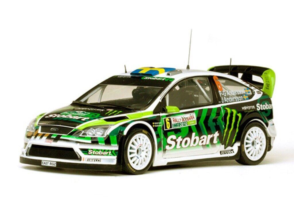 SUNSTAR 3949 3950 3951 FORD FOCUS RS WRC DIECAST RALLY CARS 2009 2008 2010 1 18