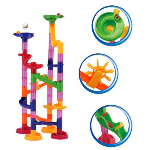 29~105PCS DIY Construction Marble Race Run Track Building Blocks Puzzles Toy SX