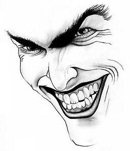 joke prank fun scary evil screaming face car or wall decal
