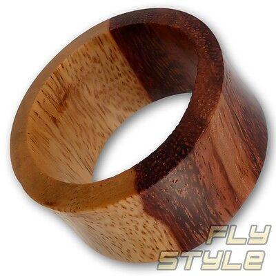 GemäßIgt Holz Flesh-tunnel Ohr Plug Piercing Natur Schmuck Tamarind Double Flared 4-50 Mm