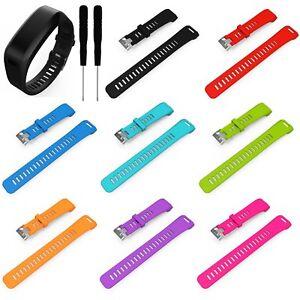 Silikon-Watch-Band-Uhrenarmband-Ersatzarmband-Fuer-Garmin-Vivosmart-HR-Tracker