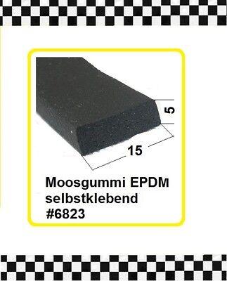 Türdichtung Gummidichtung 15x5mm 6823 Aus Berlin 6m Moosgummi Klebend € 3,95/m