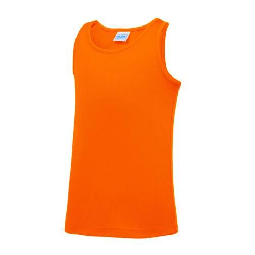 Boys girls school sports top for P.E//football//summer 3-13 AWDis Kids Cool Vest